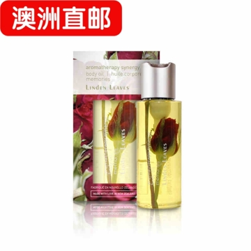 【澳洲直邮】linden leaves 新西兰身体油 滋润玫瑰按摩香薰精油250ml 包邮