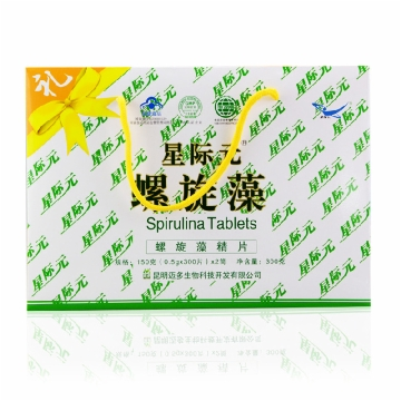 【健保通】星际元螺旋藻片 礼盒装 150g 300片*2筒