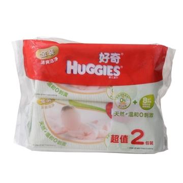 好奇金装清爽洁净婴儿湿巾超值2包装 (200*150mm)80片*2包