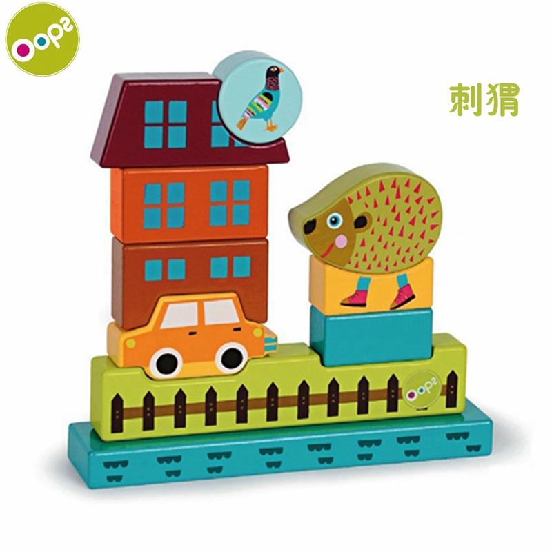oops 婴幼儿玩具 宝宝儿童想象力磁性积木(猫咪) 1600420