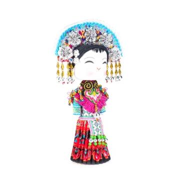 云南民族特色工艺品民族木娃娃甜甜啊娃