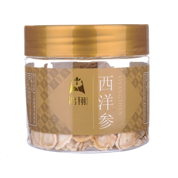 西洋参 鸿翔(中片)塑瓶50g 吉林