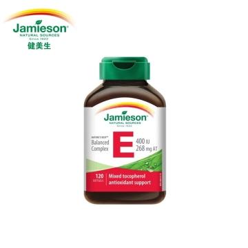 【加拿大直邮】 Jamieson健美生天然维生素E 400IU 120粒/286mg