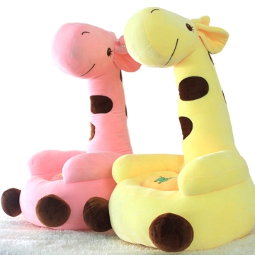 可爱卡通动漫毛绒玩具公仔玩偶布偶长颈鹿沙发