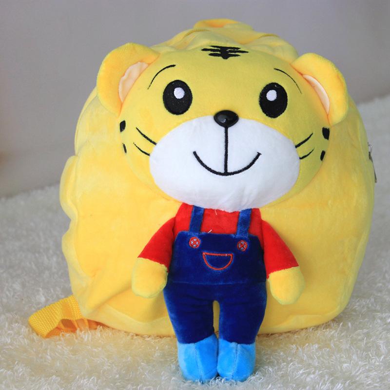可爱卡通动漫毛绒玩具 公仔玩偶巧虎 儿童幼儿园书包 新颖的小动物