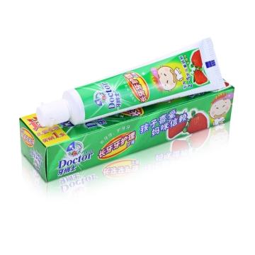 牙博士 儿童牙膏 针对宝宝换牙期护理 适用2-5岁 套装 (50g)