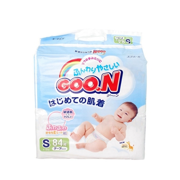 【保税区发货】日本进口 GOON 大王维E系列纸尿裤 S84片 2包包邮