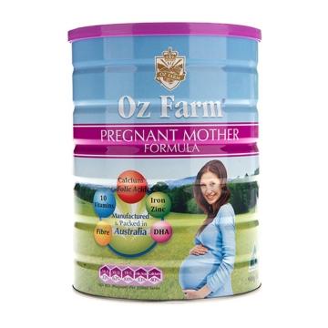 【澳洲直邮】Oz Farm孕妇孕期哺乳期营养奶粉含叶酸多维配方 900g*6罐 包邮