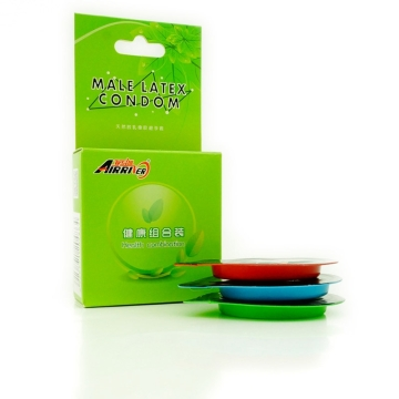 亚马逊 健康组合震动虎牙装天然胶乳橡胶避孕套 平滑型非平滑型三合一