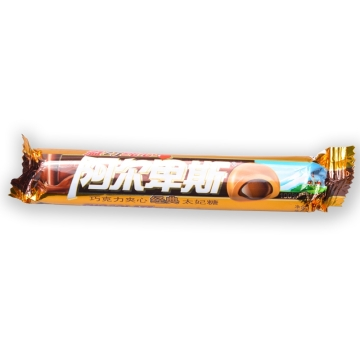 阿尔卑斯 巧克力夹心太妃条糖33.5g条装溢巧纯心含真正牛奶巧克力