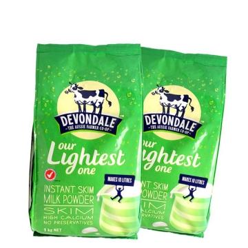 【海外直采 国内现货】澳洲德运 高钙脱脂成人儿童牛奶粉1000g*2