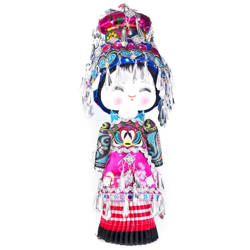 云南民族特色工艺品民族木娃娃壮族民族娃娃主产品供观赏和收藏工艺品