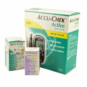 罗康全活力型血糖检测套装(血糖检测仪+采血笔) ACCU-CHEK Active