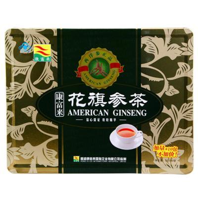 【瀚银通、健保通】康富来牌花旗参茶 铁盒 3g*30包