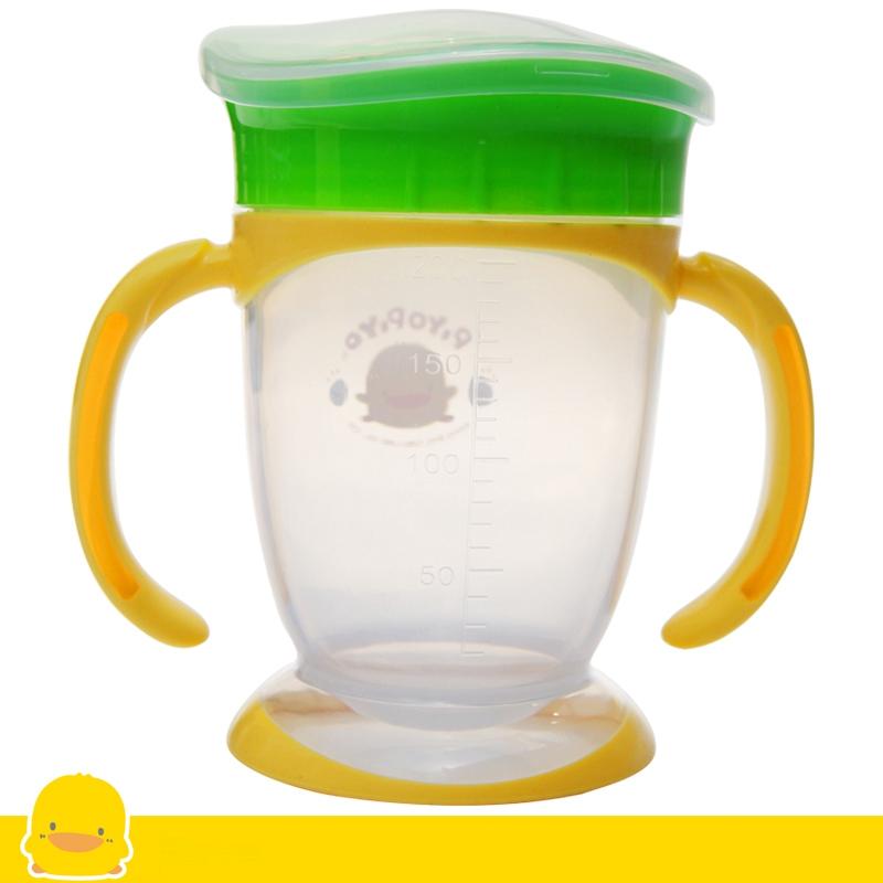 黄色小鸭 宽口型四阶段训练杯 200ml 适合8个月以上宝宝