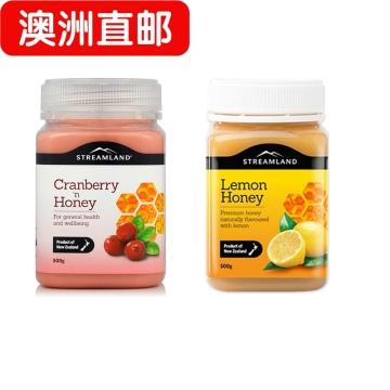 【澳洲直邮】Streamland新溪岛天然蔓越莓蜂蜜500g +柠檬蜜 500g 组合套装包邮