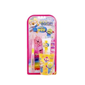 【韩国进口 国内仓发货】Pororo啵乐乐 儿童刷牙企划套装 1P(1个牙刷+1个杯子+1个牙膏50g)