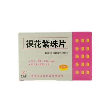 九芝堂 裸花紫珠片 薄膜衣片  0.5g*12片*2板