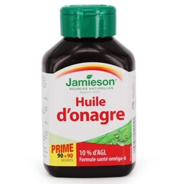 【加拿大直邮】Jamieson健美生月见草油软胶囊 调节内分泌改善痛经180粒