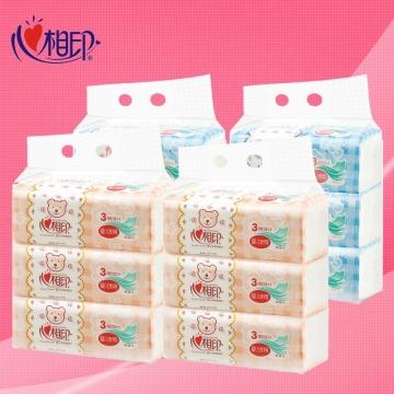DT1120 心相印婴用型120抽三层塑装纸面巾升级版(电商专供)3包*2提(120抽)