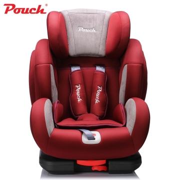 Pouch儿童安全座椅 isofix9个月-12岁 车载宝宝汽车坐椅欧标认证  型号KS02 红色