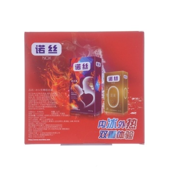 【瀚银通、健保通】诺丝冰火至尊组合装天然胶乳橡胶避孕套 52mm±