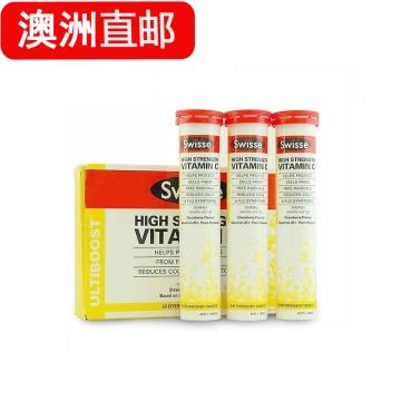 【澳洲直邮】 SwisseVC泡腾片High Strength Vita C 60片直邮商品 品质更好 让消费变得更放心