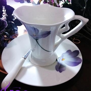 紫韵-骨瓷咖啡杯 时尚咖啡杯 陶瓷杯 精美 时尚 经典杯型