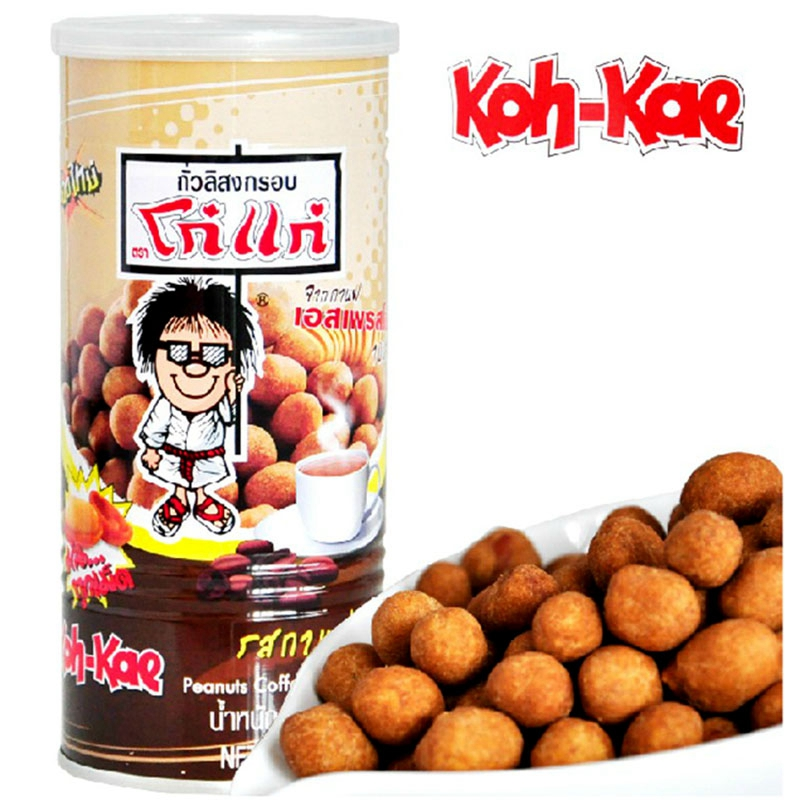 泰国进口零食大哥花生豆g咖啡味230g特产休闲食品x3瓶