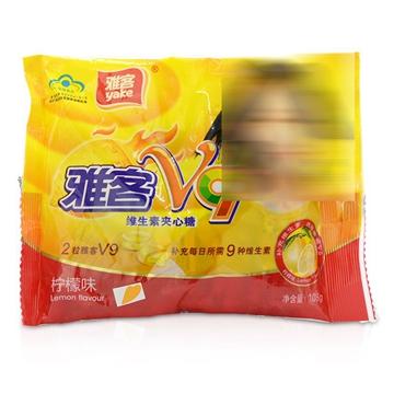 雅客V9牌 维生素夹心糖 柠檬味 108g