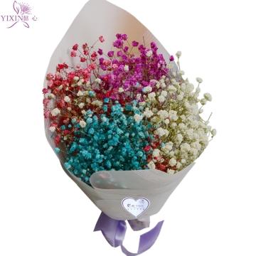 懿心鲜花 混搭满天星干花花束 多种颜色可选(蓝黄粉白绿 紫六色随意
