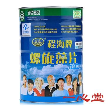 【健保通】程海牌螺旋藻片 筒装 0.5g*100片*10袋