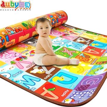 澳贝 学习字母压边双面垫 加厚双面环保拼图爬行毯 适用3个月以上