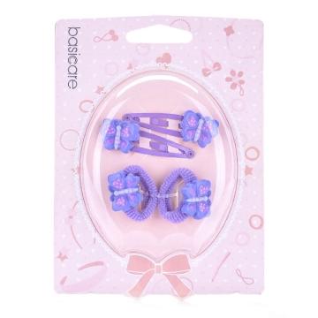 basicare 带蝴蝶的水滴夹和毛巾圈套装(3543) 4个装
