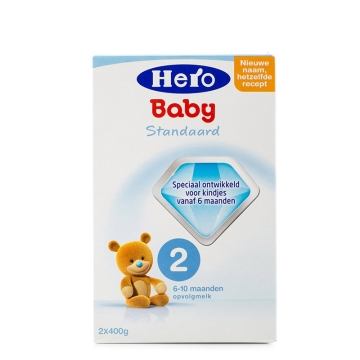 荷兰HeroBaby天赋力奶粉2段(6-10个月宝宝)800g*2
