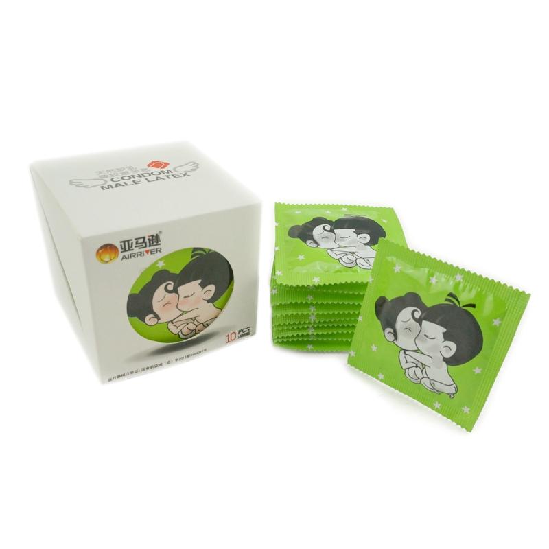 亚马逊 冰感火润热感润滑超薄装 天然胶乳橡胶避孕套 平滑型