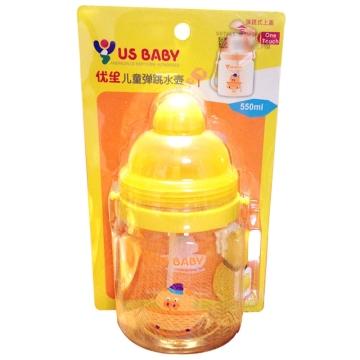 优生 儿童弹跳水壶 U31300 550ml 保温水壶水杯 儿童水壶