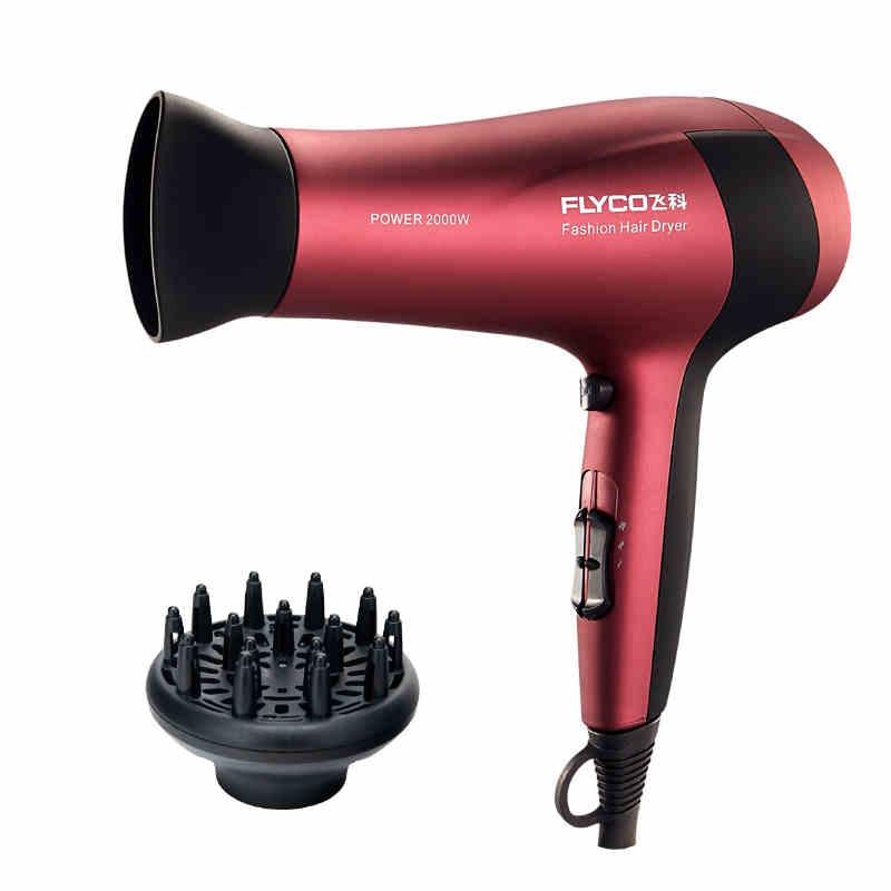 飞科(flyco) 电吹风fh6218 红色 恒温设计 2000w大功率 冷热风
