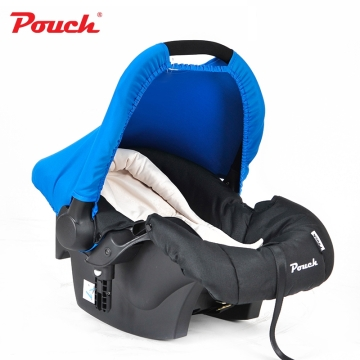 Pouch婴儿提篮新生儿汽车安全座椅 婴幼儿车载睡篮宝宝摇篮  型号Q07 蓝色