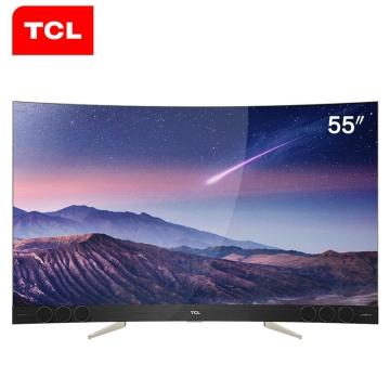 TCL 55X3 55英寸 4K超高清电视 智能电视 曲面电视
