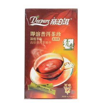 帝泊洱即溶普洱茶珍(清香型)   12袋  云南普洱熟茶茶粉