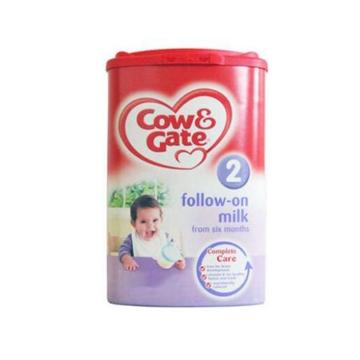 英国Cow&Gate牛栏婴幼儿配方奶粉2段(6-12个月宝宝 900g) *2罐 新旧包装随机发