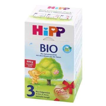 【海外直采 国内发货】HIPP/喜宝 有机奶粉3段 800g*2 包邮
