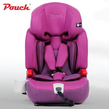 Pouch儿童安全座椅 汽车宝宝安全坐椅 isofix硬接口9个月-12岁德国  型号KS16 紫色