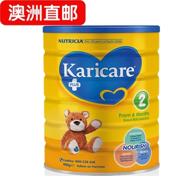 【澳洲直邮】Karicare/可瑞康普通装婴幼儿牛奶粉2段 6-12个月 900g*3 包邮