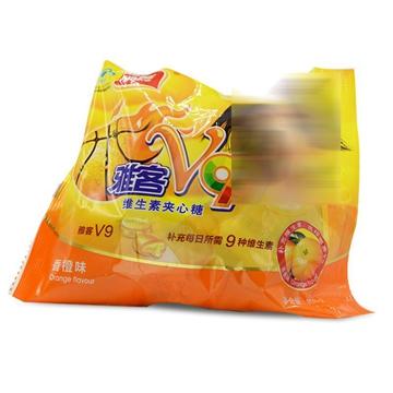 雅客V9牌 维生素夹心糖 香橙味 108g