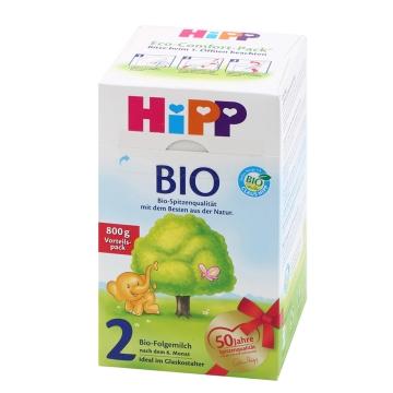 【海外直采 国内发货】HIPP/喜宝 有机奶粉2段 800g*2 包邮