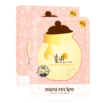 Papa recipe 爸爸的礼物 春雨玫瑰黄金蜂蜜面膜 25毫升/片 5片装*2