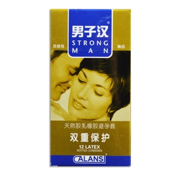 Strong Man 男子汉天然胶乳橡胶避孕套