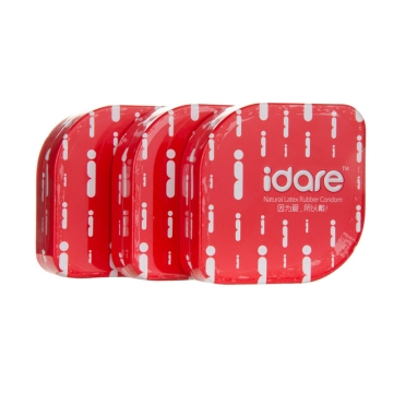 【健保通】idare 天然胶乳橡胶避孕套(爱情系列超薄) 52±2mm*3只